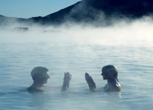 Couple in Blue Lagoon